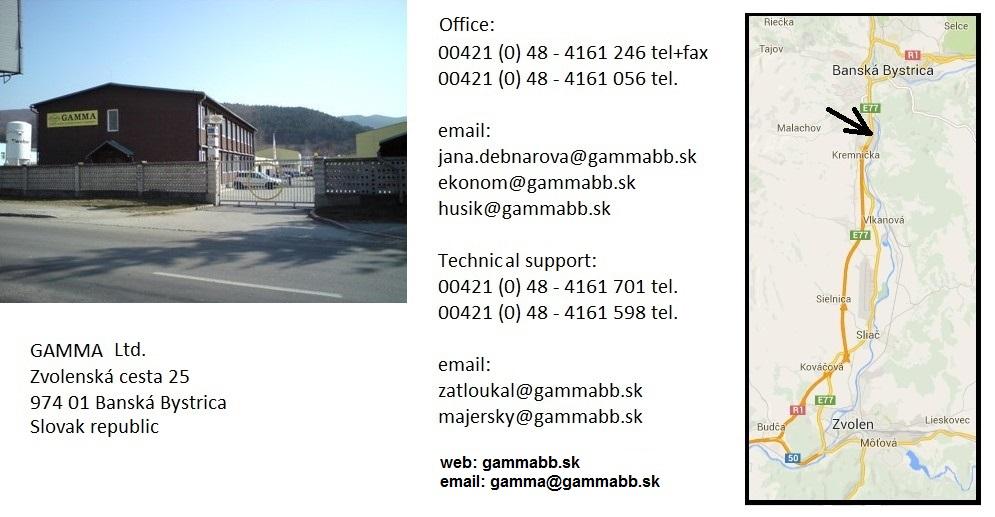 Push-Pull cables - Gamma Ltd  Slovakia